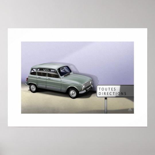 Renault 4L Poster