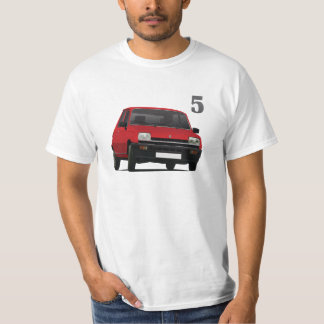 Renault 5 - diy - Red illustration T-Shirt