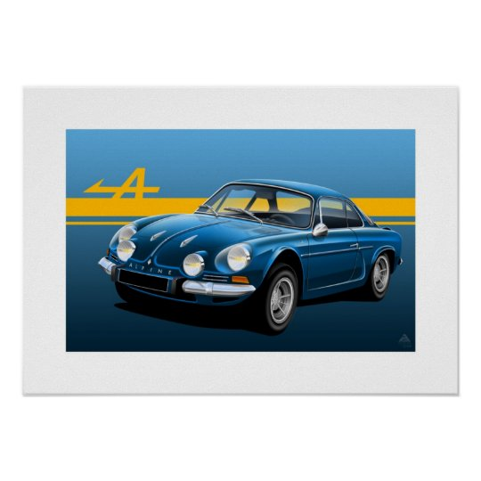 Renault Alpine A110 Poster Illustration