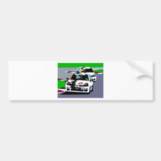 Renault Clio Racing Cars Bumper Sticker