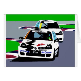 Renault Clio Racing Cars Card