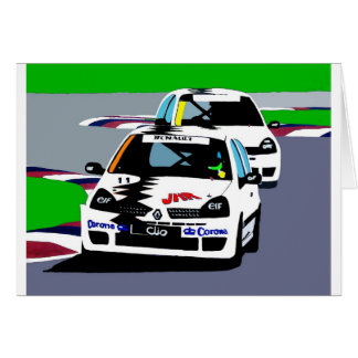 Renault Clio Racing Cars Greeting Card