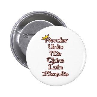 Render Unto Me Thine Loin Biscuits 6 Cm Round Badge