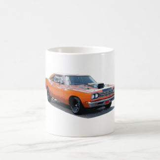 Rendering of an orange 1967 Plymouth Roadrunner Basic White Mug