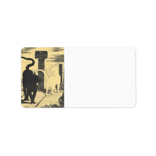 Rendevouz of Cats by Edouard Manet Address Label