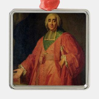 Rene Augustin de Maupeou Silver-Colored Square Decoration