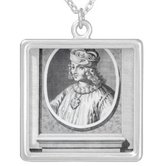 Rene d' Anjou, King of Naples Silver Plated Necklace