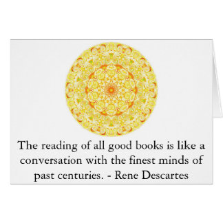 Rene Descartes Literature Quote Greeting Card