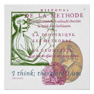 Rene Descartes poster