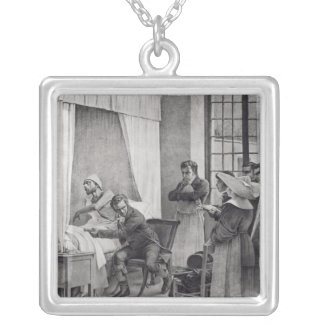 Rene Theophile Hyacinthe Laennec Silver Plated Necklace
