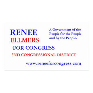RENEE ELLMERS FOR CONGRESS BUSINESS CARD