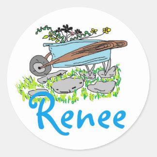 Renee's Garden Round Sticker