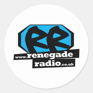 Renegade Logo_lrg_no_Out_150dpi.png Round Sticker