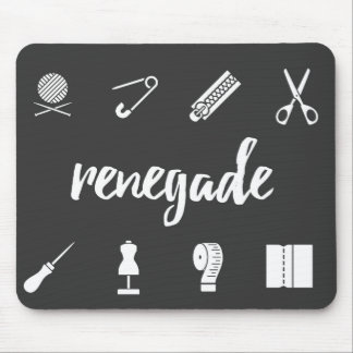 Renegade Seamstress Sewing Icons Mouse Pad