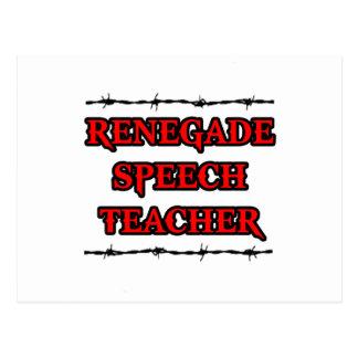 Renegade Speech Teacher Postcard