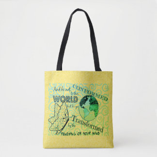 Renew Mind Bible Collage Tote Bag