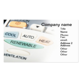 Renewable button Double-Sided standard business cards (Pack of 100)