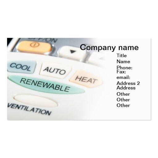Renewable button business card template