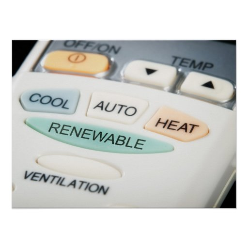 Renewable button poster
