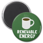 Renewable Energy Coffee Cup 6 Cm Round Magnet