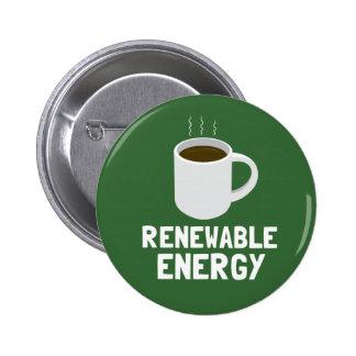 Renewable Energy Coffee Cup 6 Cm Round Badge