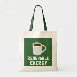 Renewable Energy Coffee Cup Budget Tote Bag