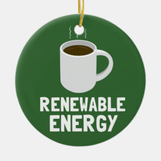 Renewable Energy Coffee Cup Christmas Ornament