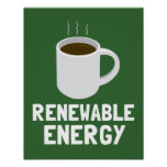 Renewable Energy Coffee Cup Poster