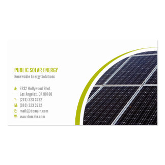 Renewable Energy Solutions Solar Pack Of Standard Business Cards