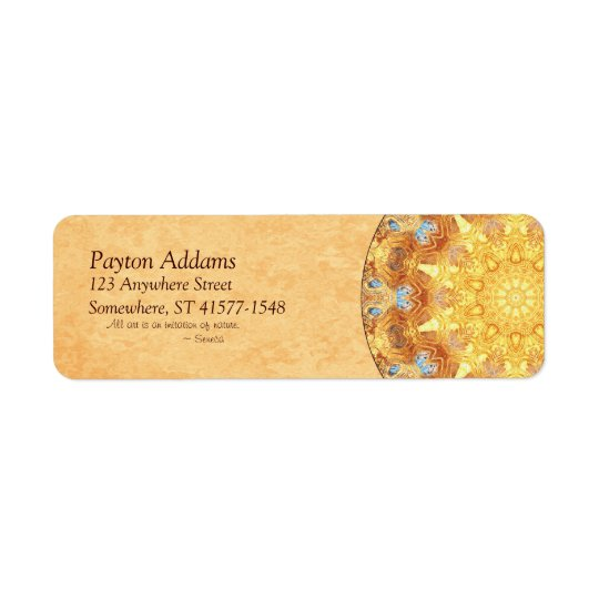 Renewal Mandala Return Address Avery Label Return Address Label