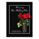 Renewal of Wedding Vows - Inviation Red Roses Custom Announcements