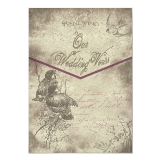 Renewal of Wedding Vows Invitation - Vintage/Birds