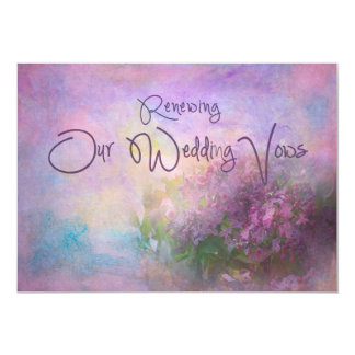 Renewal of Wedding Vows - Lilac Bliss Card