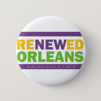 Renewed Orleans 6 Cm Round Badge
