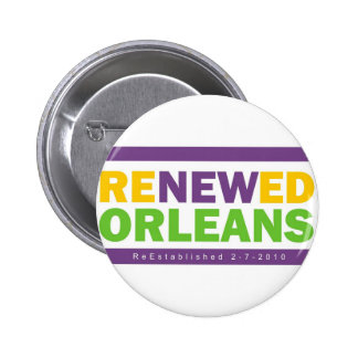 Renewed Orleans 6 Cm Round Badge