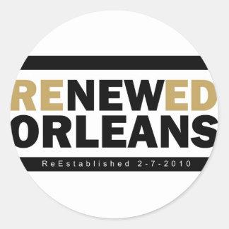 Renewed Orleans Round Sticker