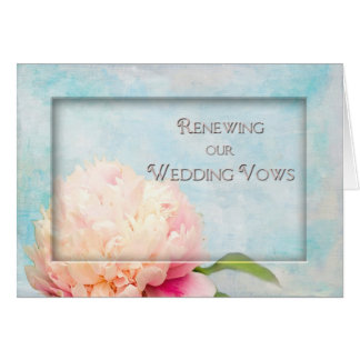 Renewing Our Wedding Vows Invitation - Peony