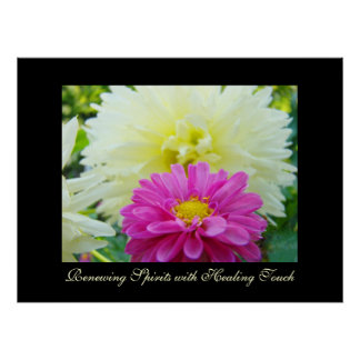 Renewing Spirits with Healing Touch art Dahlia Posters