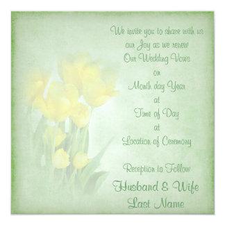 Renewing Wedding Vows 13 Cm X 13 Cm Square Invitation Card