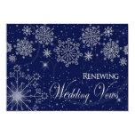 RENEWING WEDDING VOWS - INVIATION-WINTER-SNOW INVITATION