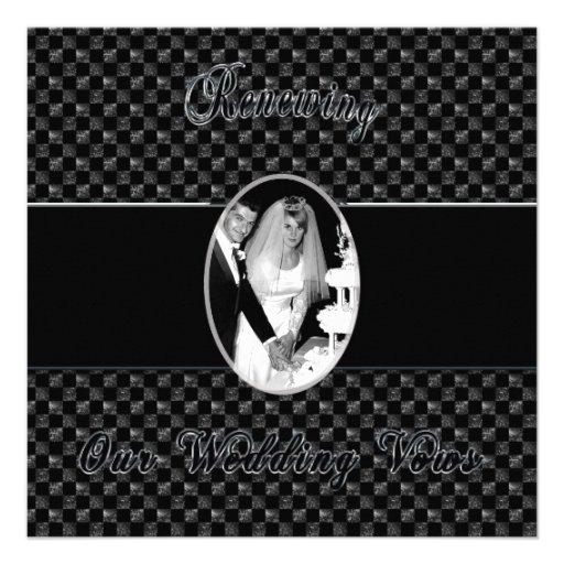 RENEWING WEDDING VOWS INVITATION CUSTOM INVITATIONS