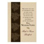 Renewing Wedding Vows Invitation- Brown/Beige/Gold