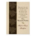 Renewing Wedding Vows Invitation- Brown/Beige/Gold 13 Cm X 18 Cm Invitation Card