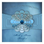 Renewing Wedding Vows - Invitation - Elegant Blue Custom Invitations