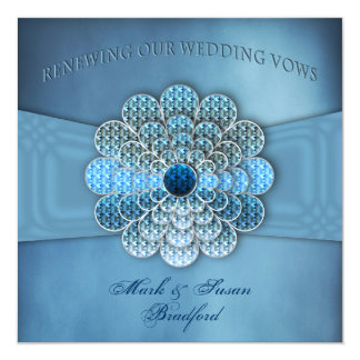 Renewing Wedding Vows - Invitation - Elegant Blue