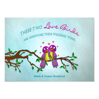 Renewing Wedding Vows Invitation - Love Birds