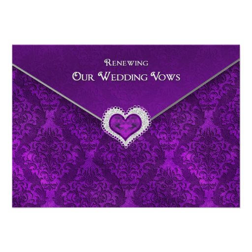 RENEWING WEDDING VOWS - Invitation-Sealedw/Jewel Invitations