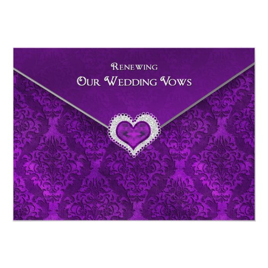 RENEWING WEDDING VOWS - Invitation-Sealedw/Jewel Card