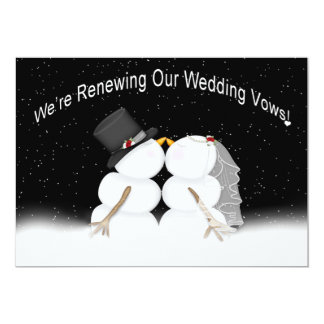 RENEWING WEDDING VOWS - INVITATION - WINTER/SNOW