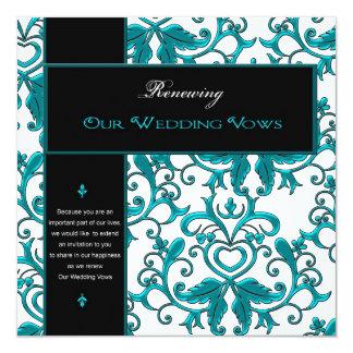 Renewing Wedding Vows -Invitations/ Embellishments 13 Cm X 13 Cm Square Invitation Card